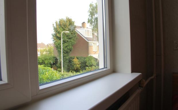 geen krassen op vensterbank